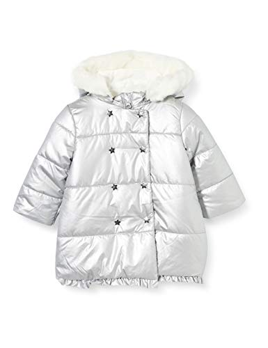 Chicco Giubbino C/Cappuccio STACCABILE Abrigo de vestir, plateado, 86 cm para Bebés