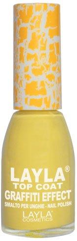 Layla Cosmetics Top Coat Graffiti Nagellack, yellow, 1er pack (1 x 0.01 L)