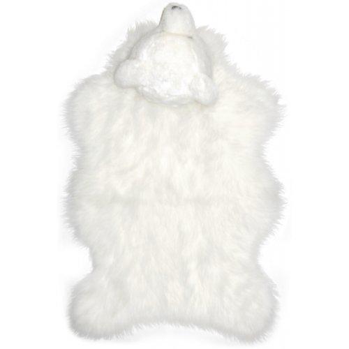 Debonsol – Kinderteppich, Kopf Bär, Fleece, weiß, 70 x 110 cm