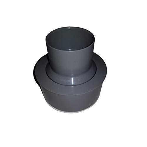 Reduziermuffe von Fallrohr Ø 60 mm auf HT- bzw. KG-Rohr Ø 110 mm