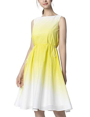 APART Damen Sommerkleid mit Dip-Dye-Effekt, Creme-vanille, 40