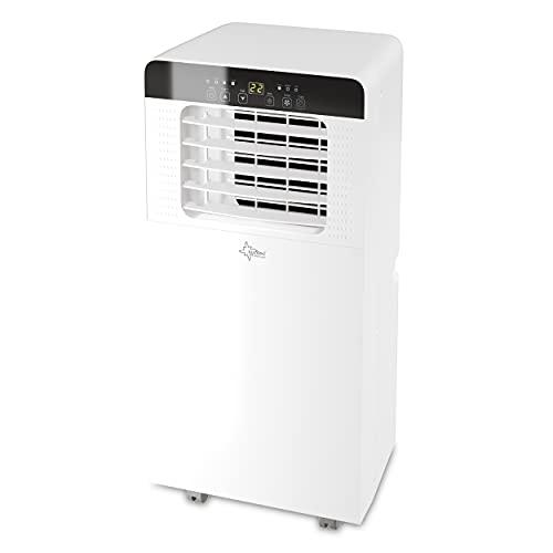 Suntec Climatizador Móvil Motion 2.0 Eco R290 - Aire Acondicionado 3 en 1 Portatil - Refrigeración, Ventilación y Deshumidificación, 7000 BTU, Pantalla, Temporizador 24 h, Mando a Distancia