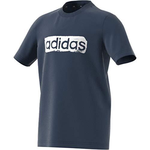 adidas B G T2 Maglietta per Bambini, Bambino, Maglietta, GN1470, Blu/Bianco (Azmatr/Blanco), 14 Anni