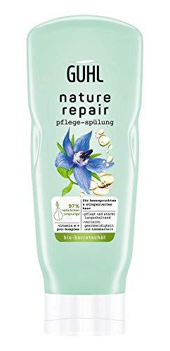 Guhl Nature Repair Spülung - Inhalt: 200ml - Für beanspruchtes und strapaziertes Haar - Pflegt und stärkt langanhaltend