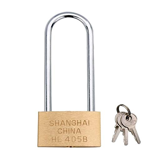 RUNNA Copper Padlock Small Lock, Style: Long Lock Beam, 50mm Open