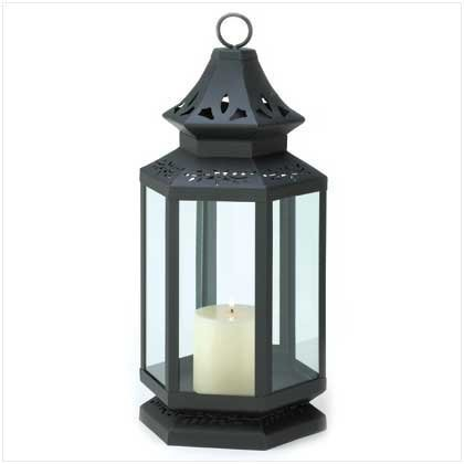 Large Black Stagecoach Lantern by Home Locomotion