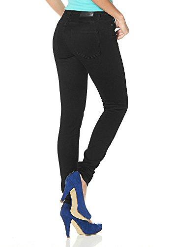 Arizona Damen Jeans Stretch Ultimate Skinny (36, Schwarz)