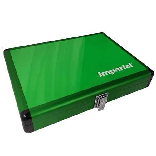 Imperial Aluminium Schlägerkoffer - Schlägerkoffer für Tischtennisschläger | TT-Spezial - Schütt Tischtennis | versch. Farbauswahl (Grün)