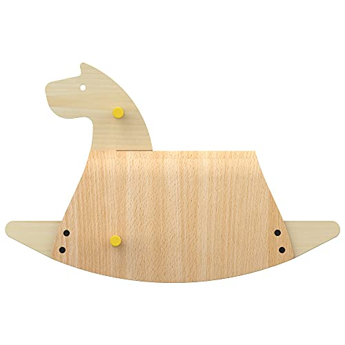 Callowesse Pinto Wooden Rocking Horse, Rocking Toy for Toddler. Modern Horse Design, Made of Real Beechwood. 12m+ | Made in EU