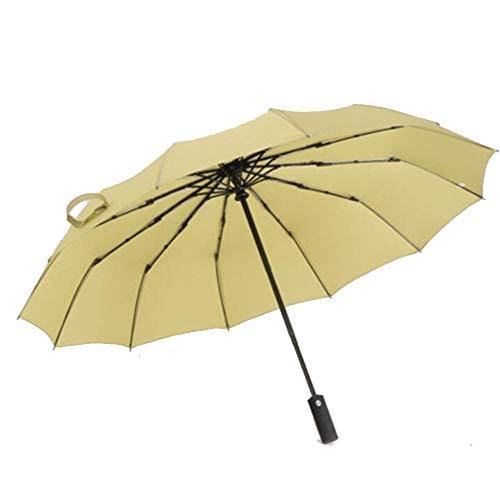 Paraplu Volledig Automatische 12 Beugels Winddicht Zonnebrandcrème Zonnescherm Vouwen
