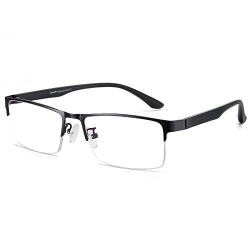 Cyxus filtro luce blu occhiali moda occhiali dormire meglio [trasparente lente] Anti affaticamento degli occhi (Cornice mezza nera)