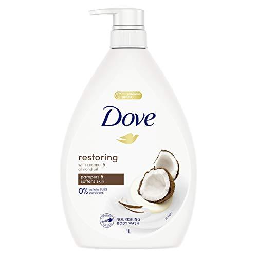 Dove Body Wash Restoring Coconut & Almond Oil, 1L