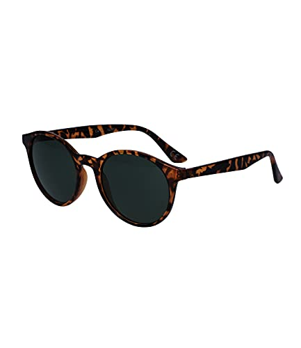SIX Klassische Sonnenbrille für Damen und Herren, unisex, Schildpatt-Optik, nachhaltig, mit recyceltem Kunststoff, Linsen-Kategorie 3, UV400 Filter (326-337)