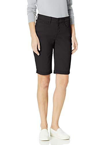 NYDJ Women's Briella Denim Shorts with ROLL Cuff, Black, 12