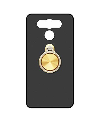 Sunrive Kompatibel mit Elephone P9000 Hülle Silikon, 360°drehbarer Ständer Ring Fingerhalter Fingerhalterung Handyhülle matt Schutzhülle Etui Hülle (A3 Golden) MEHRWEG