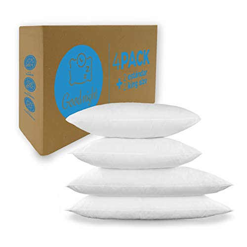 MONARCA Almohada 4 Pack HOTELERA Good Night 2 ESTANDAR + 2 King Size Blanco