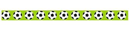 Ursus 590500135 Masking Tape Fußball 1, ca. 15 mm x 10 m, Klebeband aus Reispapier, einseitig bedruckt, Lösungsmittel- und säurefrei, ideal für Kartengestaltung und...
