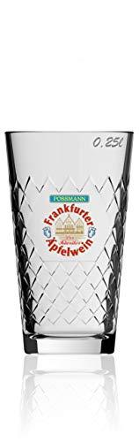 6 Gläser Possmann Apfelwein Glas Gegripptes 0,25 ltr.