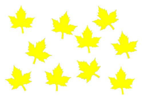Miniblings 10x Transfert Tissu 26mm Aspect Velours Patch Feuille d'érable I Patches à Repasser Repassage, Color:Gelb