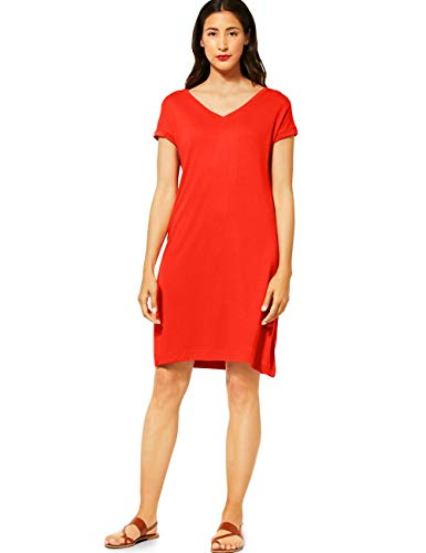 STREET ONE Damen 142694 Kleid, Cheeky red, 40