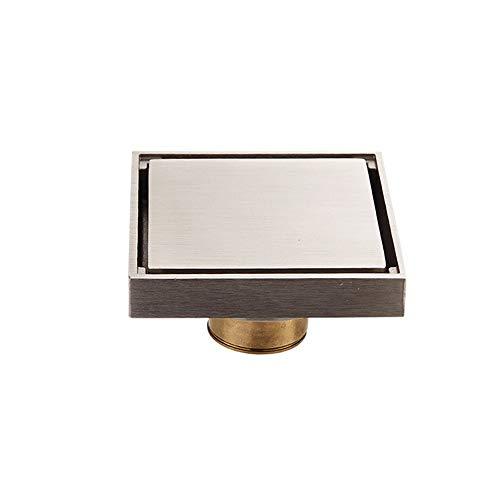 DYecHenG Bodenablauf Stealth-Anti-Blocking-Kupfer Bodenablauf Abwasserableitung Bodenablauf Küche Balkon Bad Bodenablauf (Gold) für Badezimmer Toilette Küche (Color : Gold, Size : 10 x 10 x 5 cm)