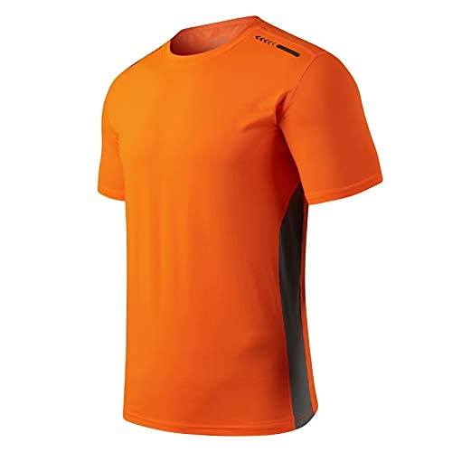 Camiseta de deporte para hombre de secado rápido, para correr, al aire libre