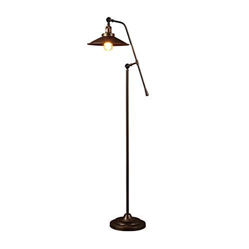 Staande Lamp Draaibaar Industrial Wind Nostalgische Iron Warehouse Den Living Room Floor Lamp Slaapkamer Nachtlampjes Creative Lange Arm Vloerlamp Plank Lamp LED (Size : B)