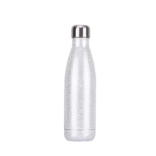 Botella de agua de acero inoxidable Botella aislada al vacío de doble...
