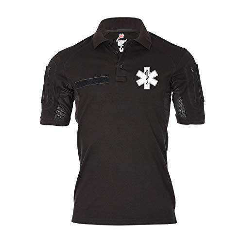 Copytec Tactical Poloshirt Alfa Medical Service Notarzt Medic Sani Dienst #19166, Größe:S, Farbe:Schwarz