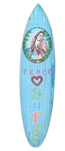 Interlifestyle Tabla de Surf 100cm Peace Surf Tablista Decoración para Colgar Lounge Style