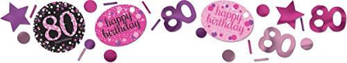 amscan 9901752 Thomas & Seine Freunde Konfetti Celebration 80 Jahre, Pink, Weiß, Lila, Rosa