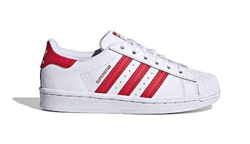 adidas Superstar C, Zapatillas de Gimnasio Unisex niños, FTWR White Scarlet FTWR White, 34 EU