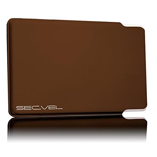 SECVEL Kartenschutzh�lle Young Style - RFID/NFC & Magnetfeld Schutz - Tabac