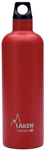 Laken Futura Botella Térmica de Acero Inoxidable 18 8 y Aislamiento de Vacío con Doble Pared, Rojo, 750 ml