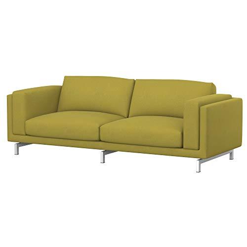 Soferia Funda de Repuesto para IKEA NOCKEBY sofá de 3 plazas, Tela Softi Dark Yellow, Amarillo
