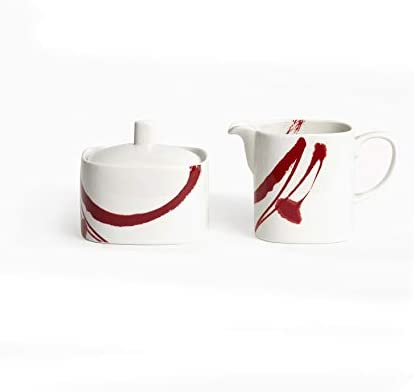 Red Vanilla Paint It Red Creamer 8oz Covered Sugar Bowl Set, 1