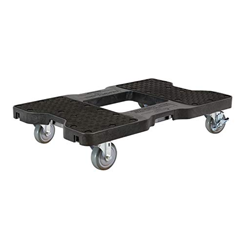 SNAP-LOC 1500 LB Black OPS Dolly (USA!) with Steel Frame, 4 inch Casters and Optional E-Strap Attachment
