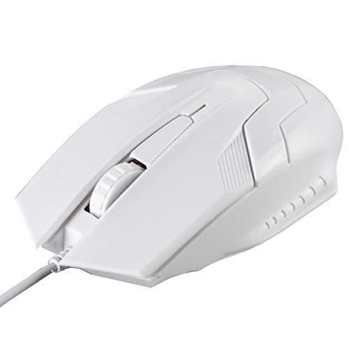 Ai-yixi Tastiera e Mouse Wireless ad Alta Precis Mouse cablato USB 1200DPI Desktop Gaming Optic Mouse Office Office Mouse per Computer Portatile PC Super Fashion Design (Color : White)