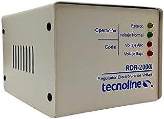 Tecnoline® RDR-2000i Beige Regulador de Voltaje, Exclusivo Refrigeración, Lavadoras. 2000W, 600J, con Límites y Retardo pa...