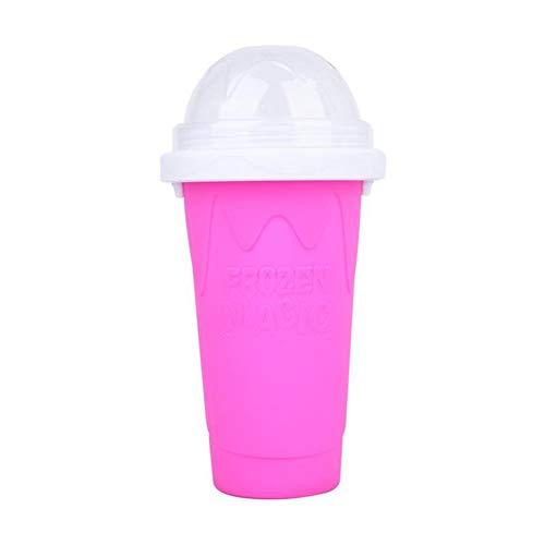 ISAKEN Taza de Bebidas heladas caseras para Bricolaje,Taza de Hielo de Viaje portátil, Taza para Hacer Batidos Taza de pellizco de Copa de sílice de Doble Capa para Hacer Helados casera