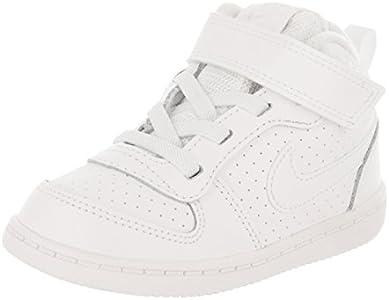 Nike Court Borough Mid (TD), Zapatillas de Gimnasia Bebé-Niños, Blanco (White/White 100), 19.5 EU