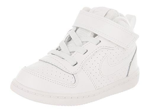 Nike Court Borough Mid (TDV), Scarpe da Basket Unisex-Adulto, Bianco (White/White 100), 43 EU