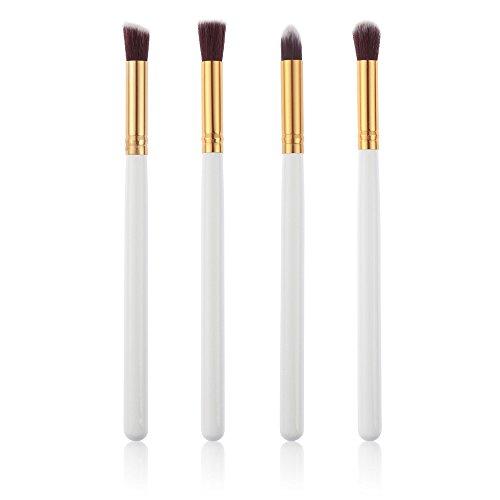 Ruiting 4pcs maquillage professionnel cosmétiques fond de teint liquide pinceau Outils de Maquillage WHITE + GOLD