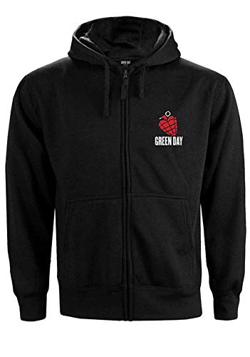 Green Day American Idiot Oficial Sudaderas Capucha Hombre (X-Large)