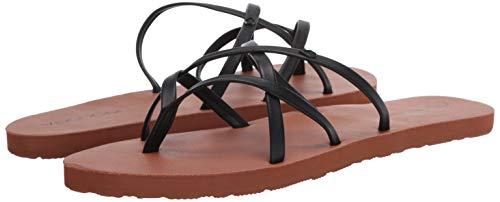 Volcom Women's New School Flip Flop Sandal Water Shoe, Black, 8