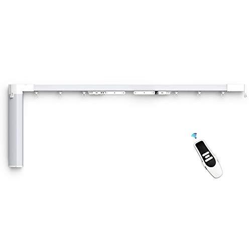 Sistema de cortina automática con carril motorizado Slide pantalla motor con WiFi persianas compatible con Siri, Alexa Echo Voice Control personalizado App Control, Timing, fácil instalación