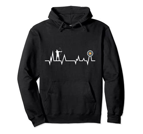arcieri battito cardiaco tiro con l'arco ECG freccia tiro co Felpa con Cappuccio