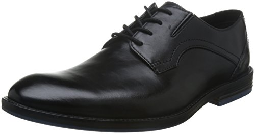 Clarks Herren Prangley Walk Derby, Schwarz (Black Leather), 43 EU