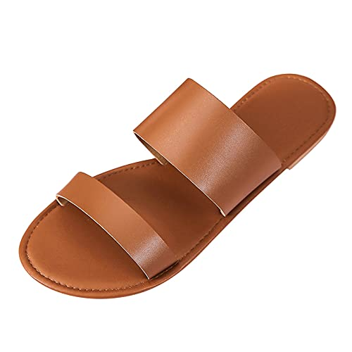 Sandalias de verano para mujer, antideslizantes, planas, elegantes, para el tiempo libre, planas, transpirables, para la playa