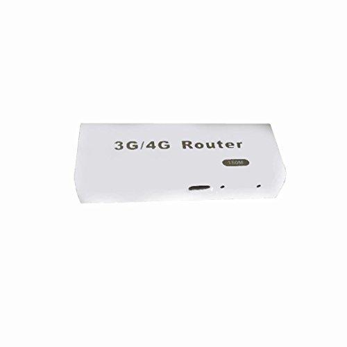 Amison Mini 3G / 4G Wifi Wlan Hotspot Ap Cliente Rj45 Usb Router Inalámbrico 150Mbps (Blanco)